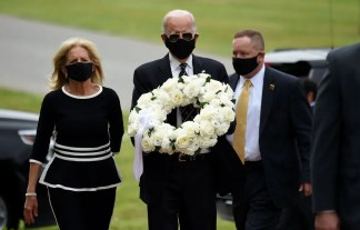 Joe Biden Makes First Public Appearance in Months for Memorial Day Wreath-Laying Ceremony
