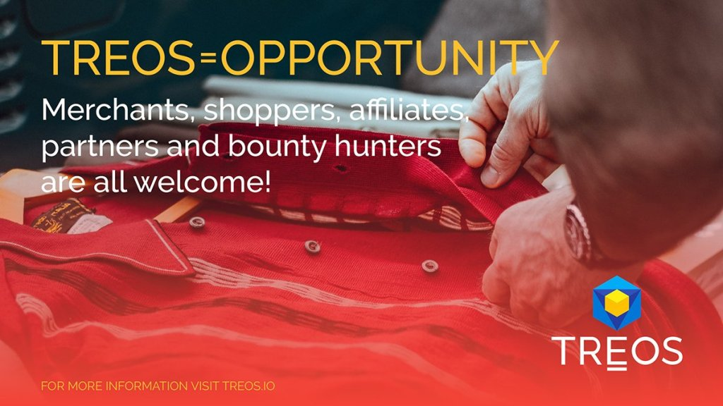 Opportunity knocks for everyone who joins #TREOS - Merchants, shoppers, affiliat... 10