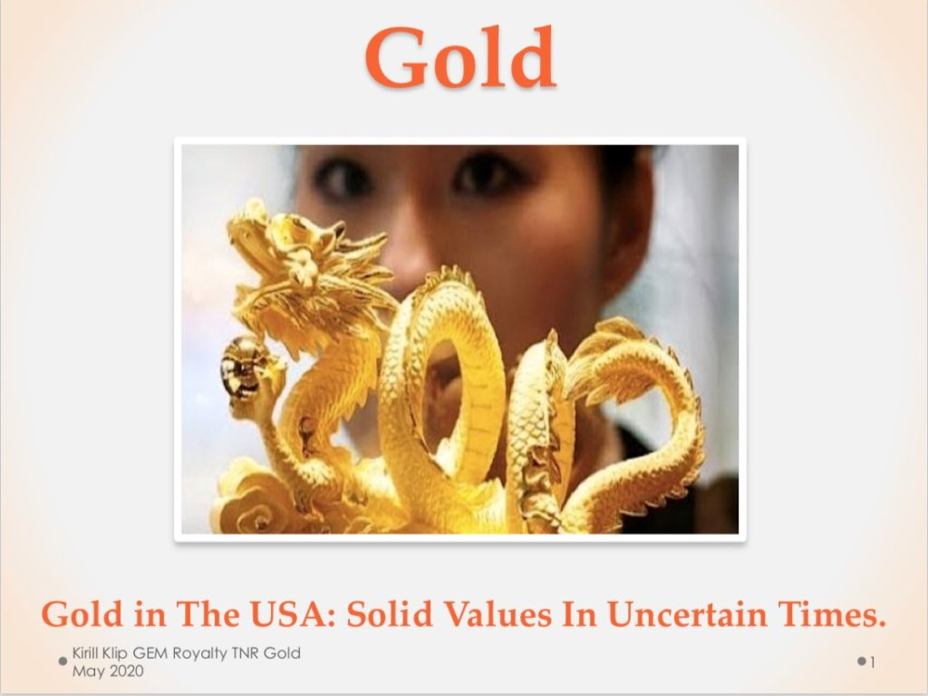 #Gold In The USA, Alaskan Elephant Country: Kirill Klip GEM Royalty $TNR.v #TNRG... 28