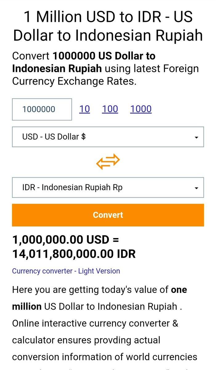 1 Million Idr To Usd : million, Rai⁷, Twitter:,