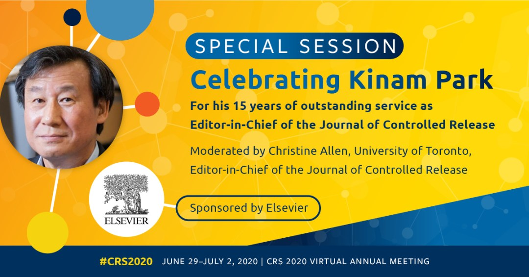 So many reasons to celebrate Professor Kinam Park!    Don't miss this... register for the @CRSScience virtual annual meeting now!  #CRS2020 #CRS2020vAM https://t.co/7g9MdCLePL