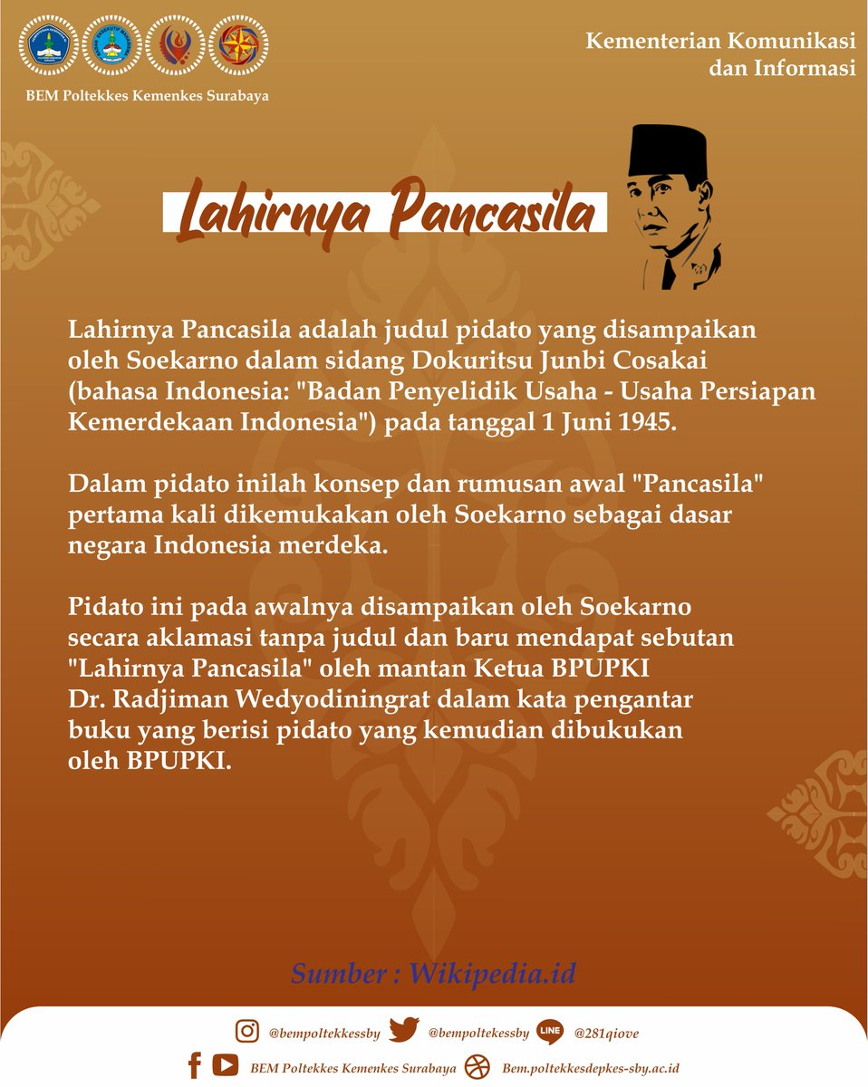 Pancasila Disahkan Pada Tanggal : pancasila, disahkan, tanggal, Poltekkes, Surabaya, Twitter,