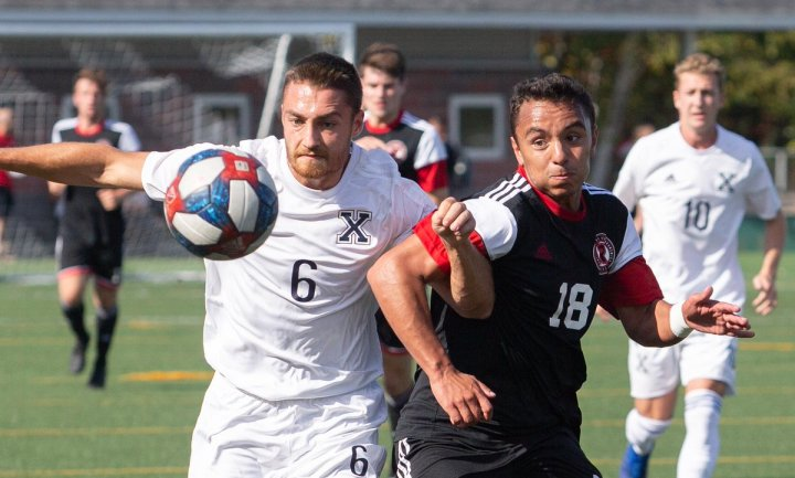 """UNB Reds on Twitter: """"Day three of 'Best of 2019-20 Photos' polls,  featuring our women's and men's @UNB_Soccer teams. We've chosen our four  favourite men's soccer pictures from the past season... and"""