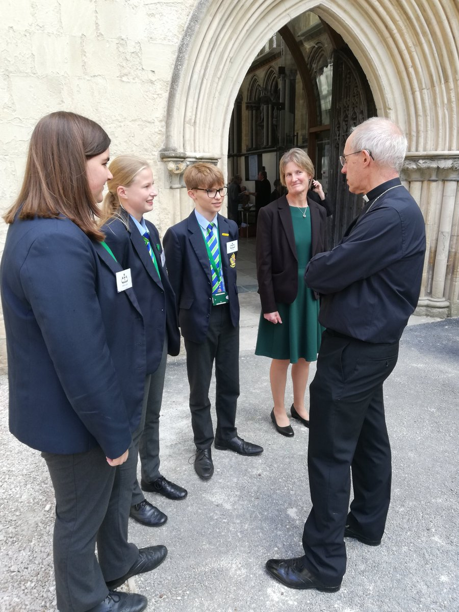 Great to have Mrs Jacobs and pupils from Patteson House @KingsSchoolOSM attending our Patteson commemorations at @ExeterCathedral with @JustinWelby…