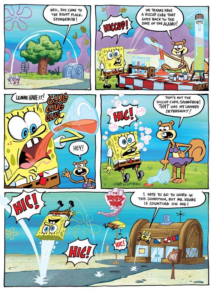 Spongebob Hiccup Plague : spongebob, hiccup, plague, SpongeBob, Twitter:, Comic, Sherm, Cohen, About, Danger, Hiccups., SOURCE:, CartoonSNAP, (1/4)