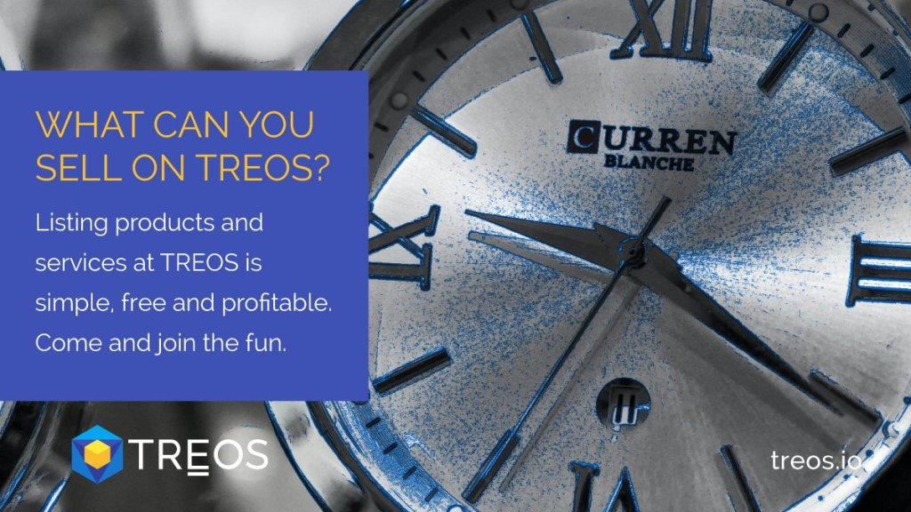 What can you sell on TREOS? Just about anything and everything. And be generousl... 4