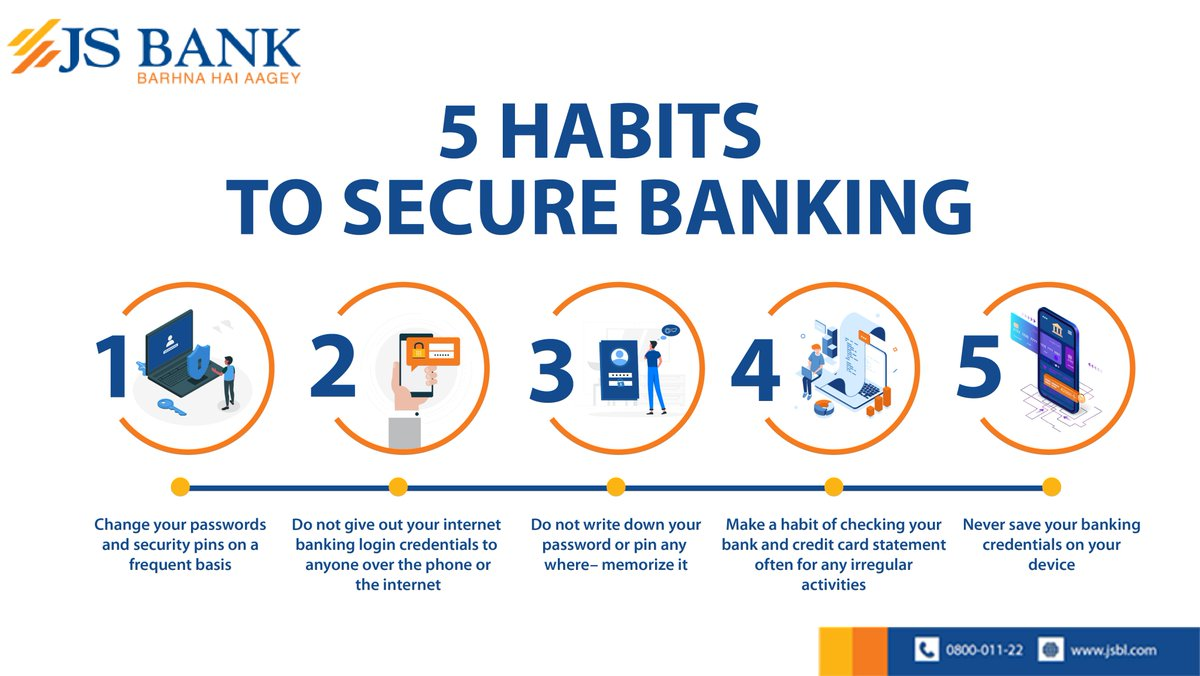Js Bank On Twitter Follow These Tips To Keep Your Information Safe Ensuring A Secure Experience When Banking Online Jsbank Barhnahaiaagey Safebanking Https T Co Rff9y6p2h0