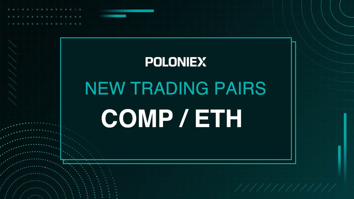 New trading pair   COMP/ETH listed and enabled for full trading!   Trade today ... 1
