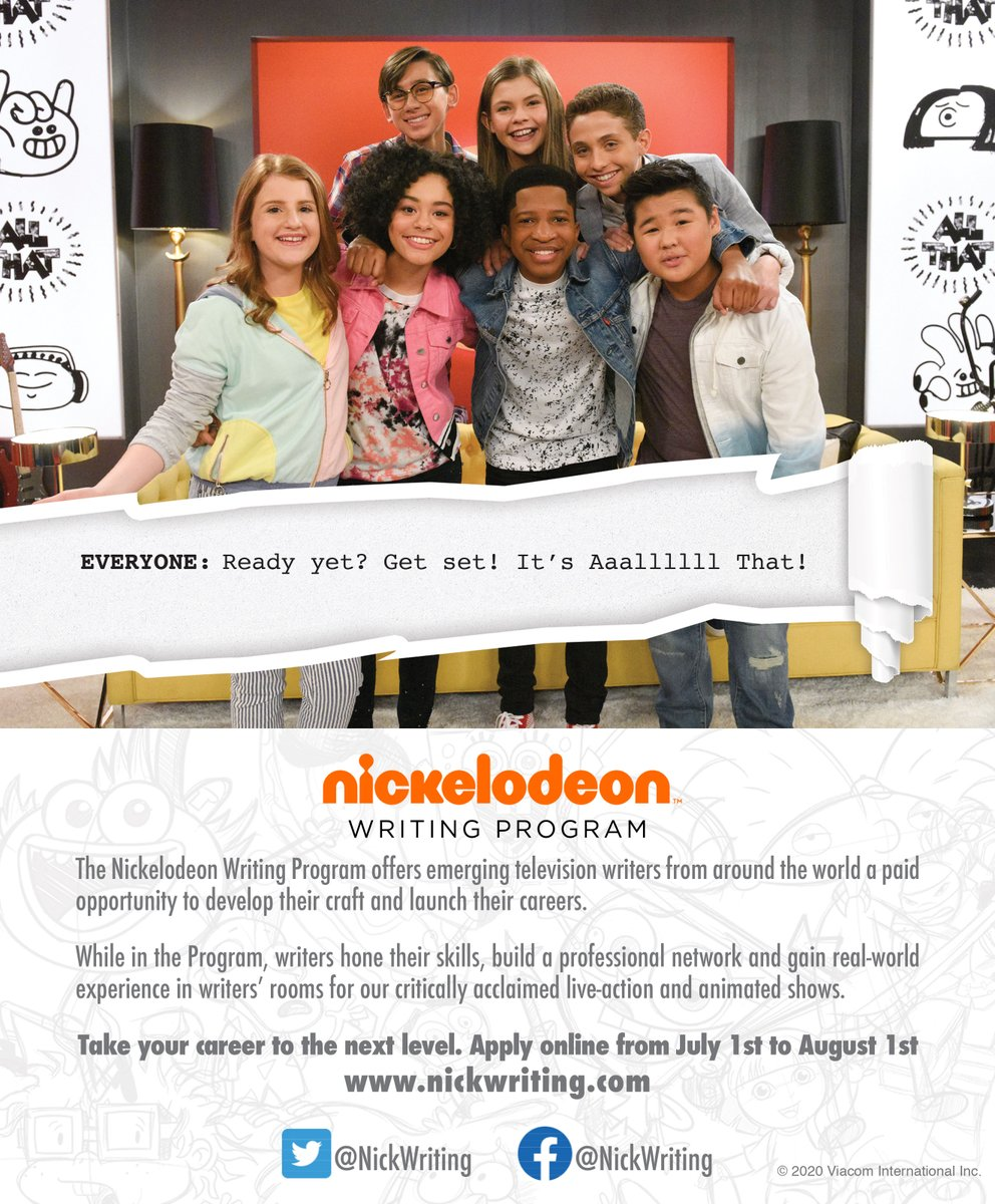Nickelodeon Writers Program : nickelodeon, writers, program, NickWritingProgram, Twitter:, Ready,, Writers??, ⌛️Tomorrow, Opens, Submissions, Https://t.co/4g1RHleA0G, Details, Apply., Don't