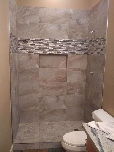 shower tile orientation horizontal