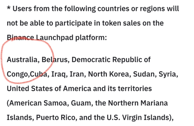 Hi @cz_binance since when have Aussies not been able to participate in a @binanc... 2