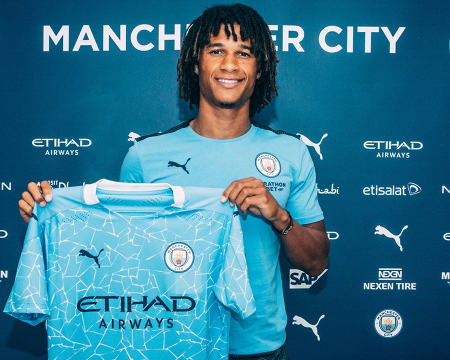 """Nathan Aké on Twitter: """"Very excited to join @mancity. Can't wait to get  started! 💙🦈 #mancity… """""""