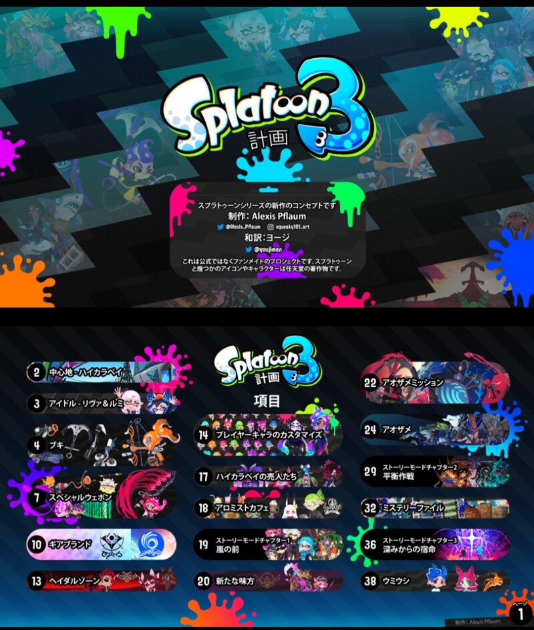 (画像あり) 17年7月25日 switchスプラトゥーン2 splatoon2;スプラトゥーン 12,3 プリ画像には、スプラトゥーンの画像が12,3枚 、関連したニュース記事が12. 有志の作ったスプラトゥーン3計画が凄い スプラ3 話題の画像がわかるサイト