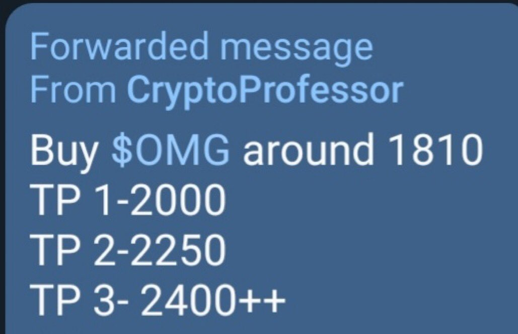 $OMG more than 50% profit in a day This telegram channel gives the best calls-  ... 2