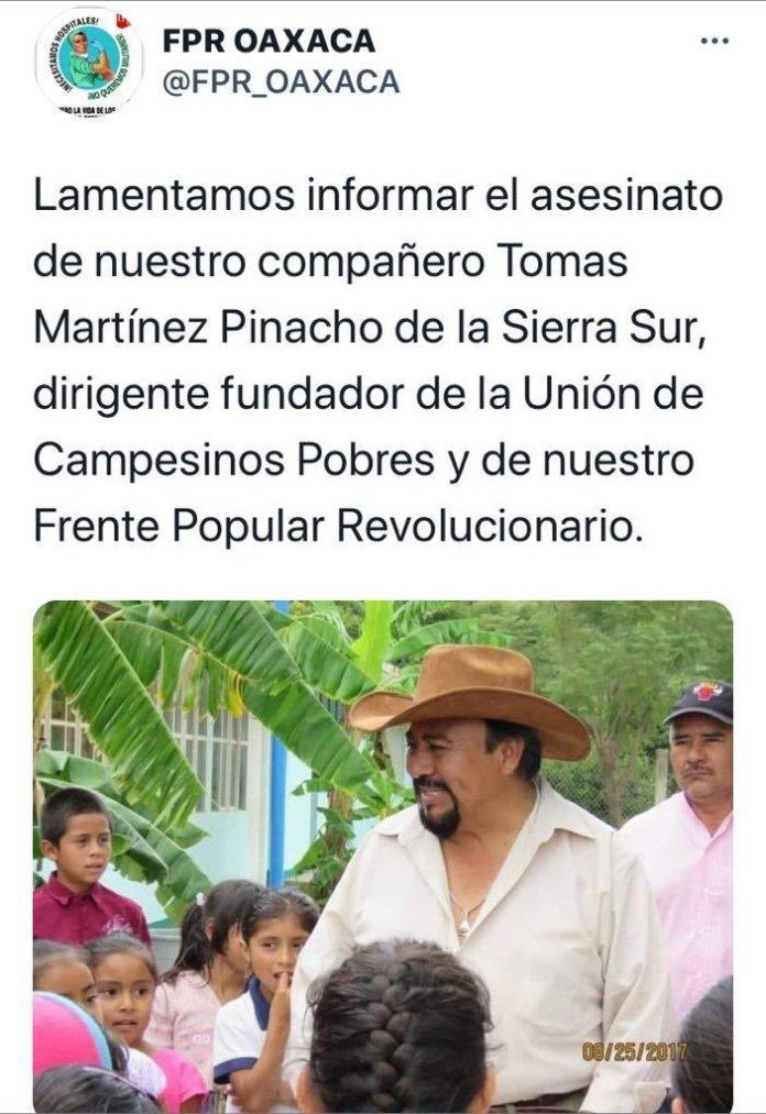 "La Garrapata S-22 on Twitter: ""?El @FPR_OAXACA responsabiliza de ..."