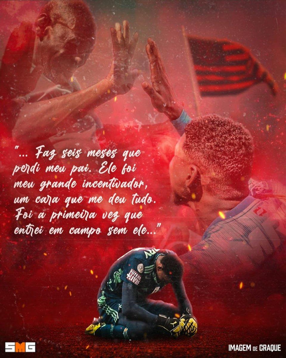 """Que tarde / noite do goleiro Hugo Souza (Neneca) do #Flamengo no empate em 1-1 diante do Palmeiras. O arqueiro do Rubro-Negro agradeceu através da sua rede social: """"...essa noite ficará marcada pra sempre em minha memória..."""". #FlaENM"""
