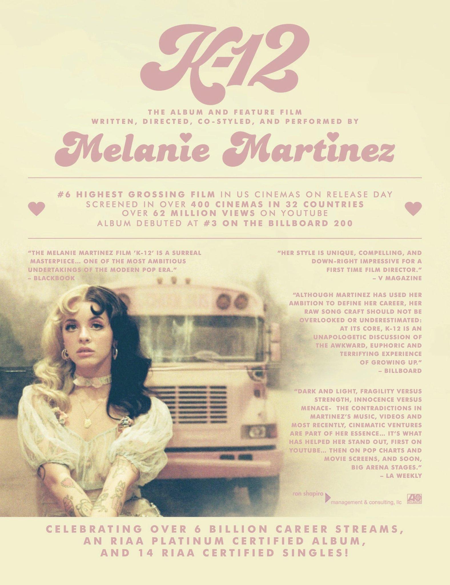 melanie martinez charts on twitter