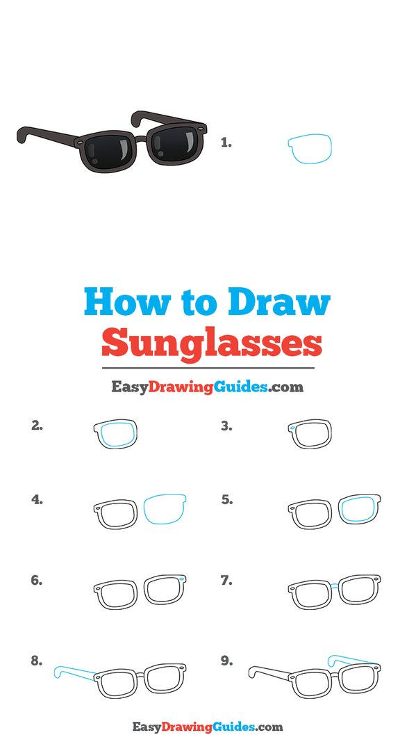 Sunglasses Drawing Easy : sunglasses, drawing, Drawing, Guides, Twitter:,