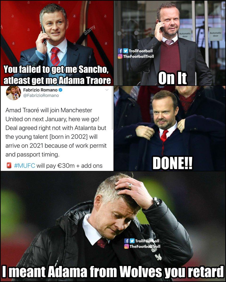 United Memes : united, memes, Troll, Football, Twitter:, Signed, Traore…