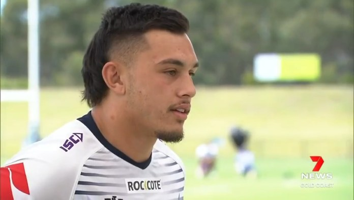 Image for the Tweet beginning: Future @GCTitans player Tino Fa'asuamaleaui