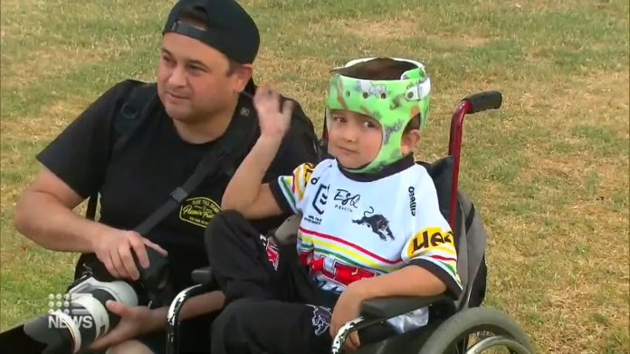 Durakai also the cutest fan you'll meet. Hear his amazing story and the beautiful relationship he's formed with the @PenrithPanthers. #nrl You can also support his family at https://t.co/oNEHO4zusU