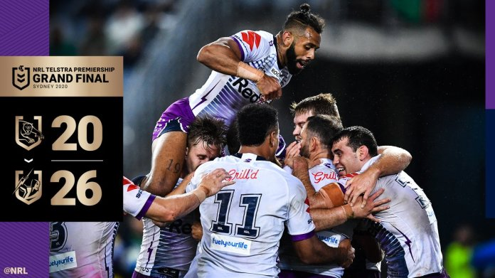 Congratulations Melbourne @storm - 2020 @NRL Premiers 🏆  Bar the @NZWarriors the Storm arguably faced the toughest set of circumstances this year, so great to see the sacrifice of the entire group pay off 🙌