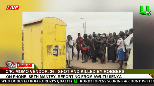 C/R: MOMO VENDOR, 26, SHOT AND KILLED BY ROBBERS