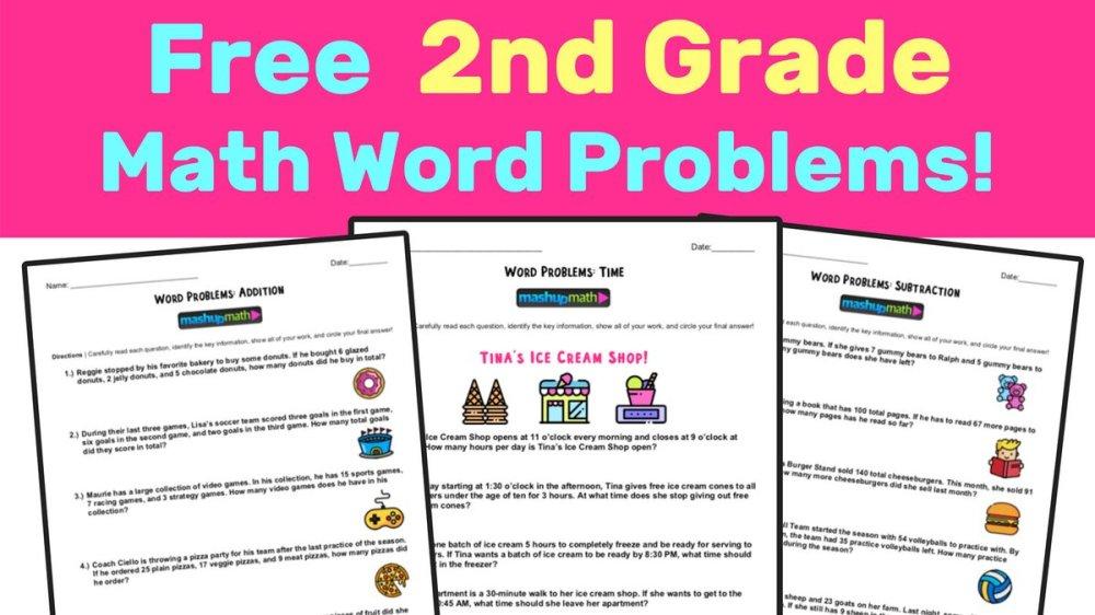 medium resolution of Mashup Math on Twitter: \New! Free 2nd Grade Math Word Problems Worksheets!  https://t.co/yRW0rySBRI #2ndchat #elemmathchat… \