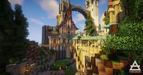 Minecraft Elven Castle