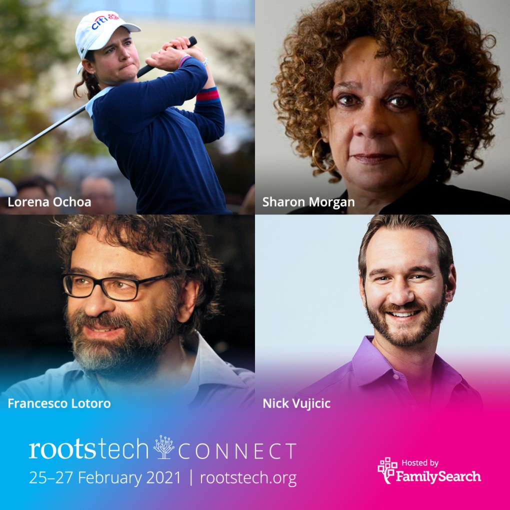 RootsTech announces its first 4 keynote speakers! And what an incredible lineup!  #RootsTechConnect