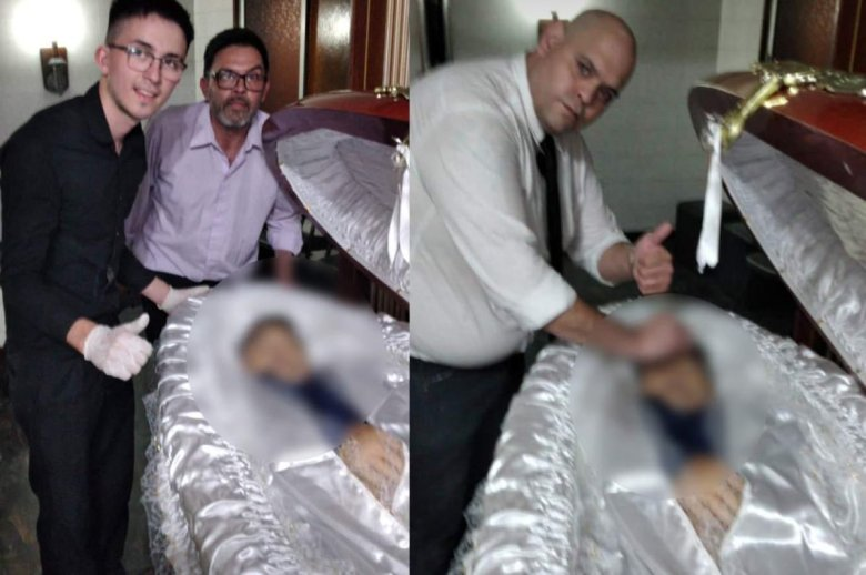 """EHA News on Twitter: """"Funeral workers' selfies with body of #Maradona spark  outrage At least one funeral home worker has been fired after he shared a  disturbing selfie with the body of"""