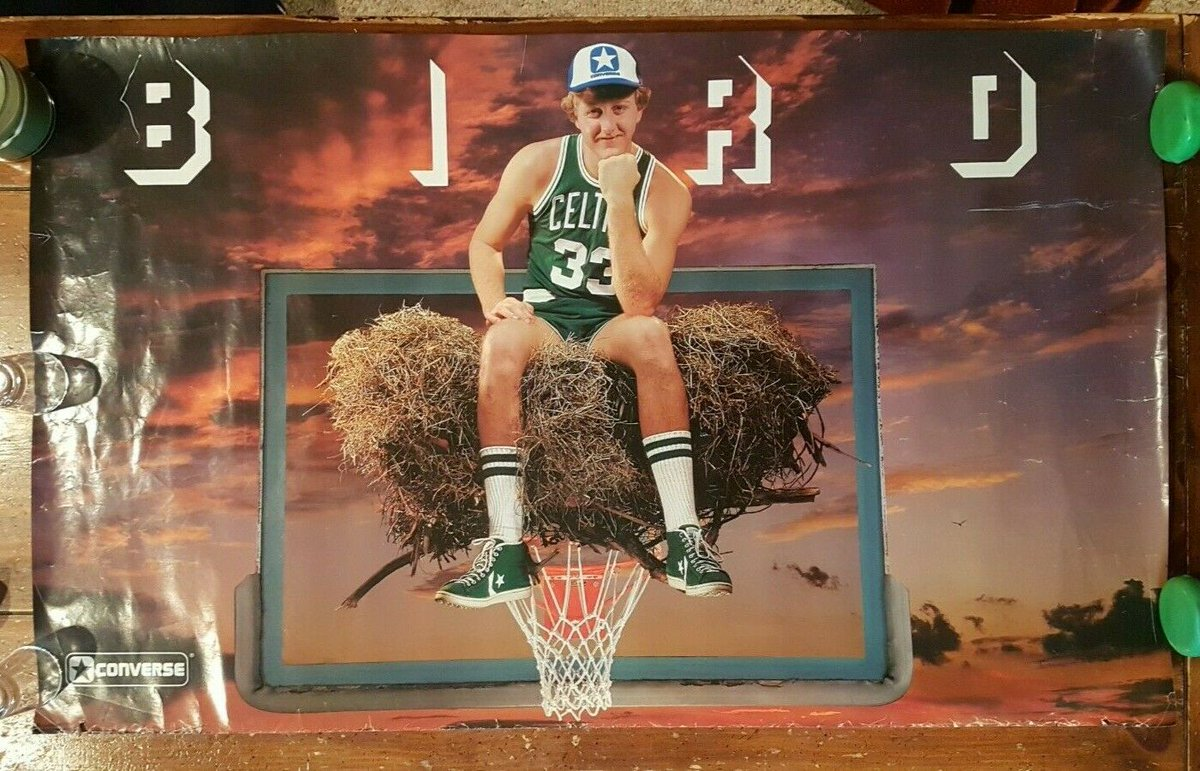 classic converse larry bird posters