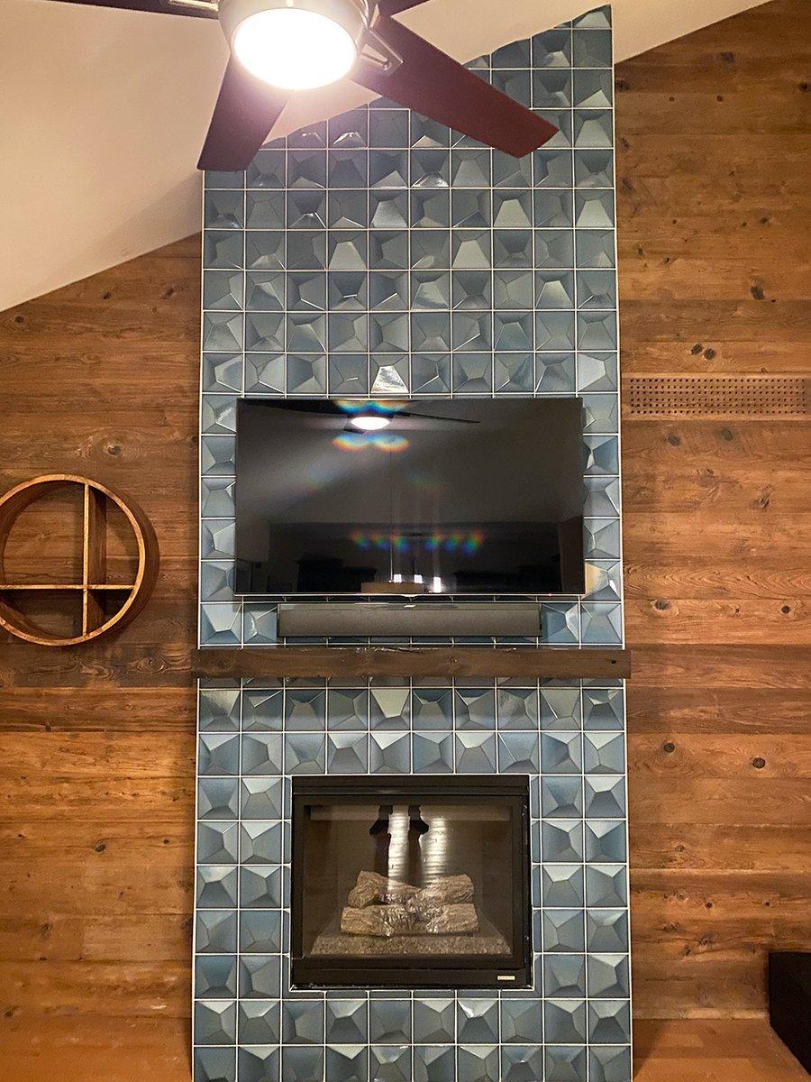 6 x 6 3d ceramic tile fireplace