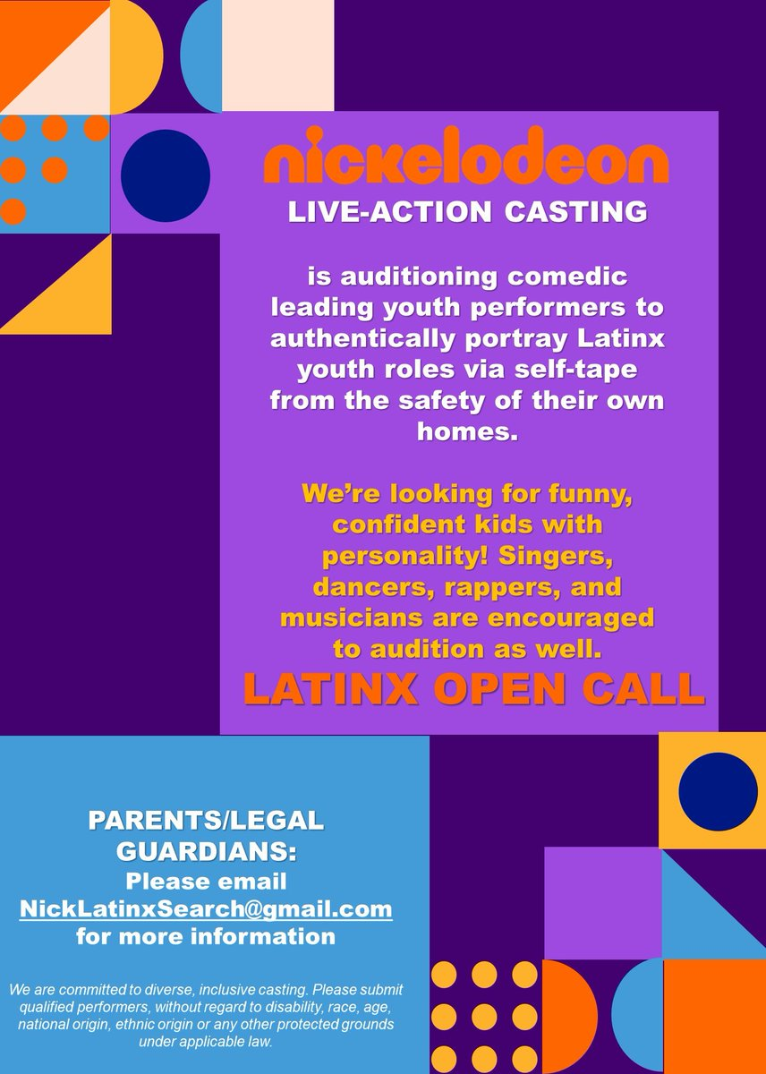 Nickelodeon Open Casting Calls 2020 : nickelodeon, casting, calls, Nickelodeon, Casting, (@nickelodeoncast), Twitter