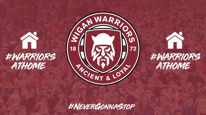🚨 ICYMI   #WarriorsAtHome returns for 2021!  💪 Our first challenge, which was set on Monday, is to send us your photos and videos in Warriors colours of your innovative home fitness routines.   📲 Get involved and we'll retweet the best ones!   #NeverGonnaStop 🍒⚪ #WWRL