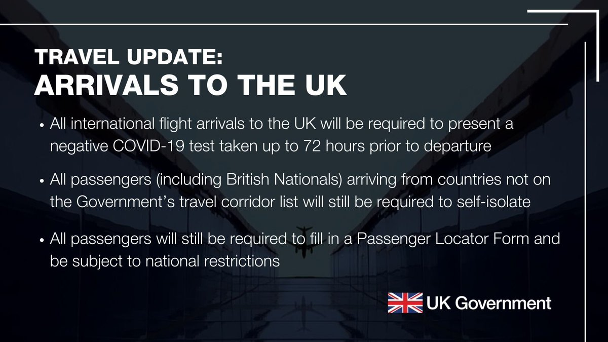 Maybe you would like to learn more about one of these? Uk In Nigeria On Twitter Travel Update From 4am On 15 January 2021 All Travellers From International Destinations To England Are Required To Present A Negative Covid 19 Test Result Taken No More