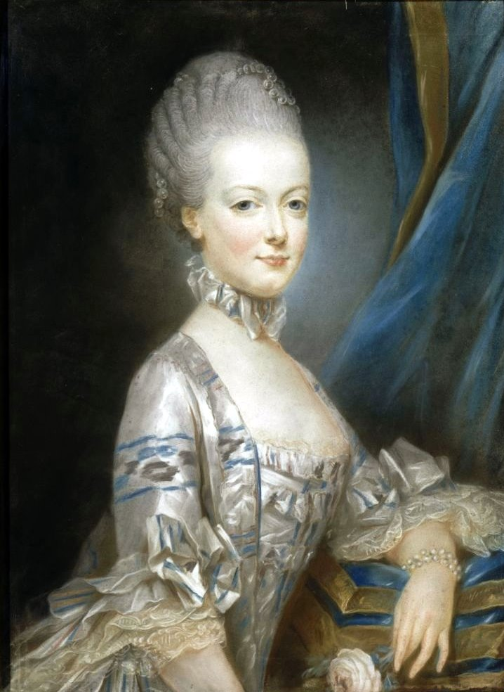 Marie Antoinette by Joseph Ducreux in Ikat taffeta - she was 13 in this photo.