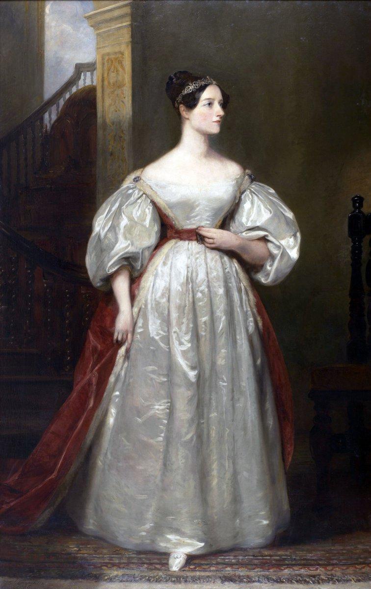 Ada Lovelace in taffeta, probably. via Wikipedia, public domain.