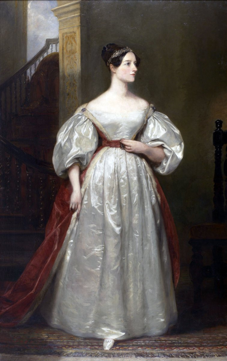 Ada Lovelace in taffeta, probably. via Wikipedia, public domain.