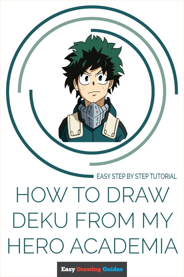 """Deku Drawing Easy : drawing, Uživatel, Drawing, Guides, Twitteru:, """"Learn, Academia:, Step-by-Step, Tutorial, Beginners., #MyHeroAcademia, #drawingtutorial, #easydrawing."""