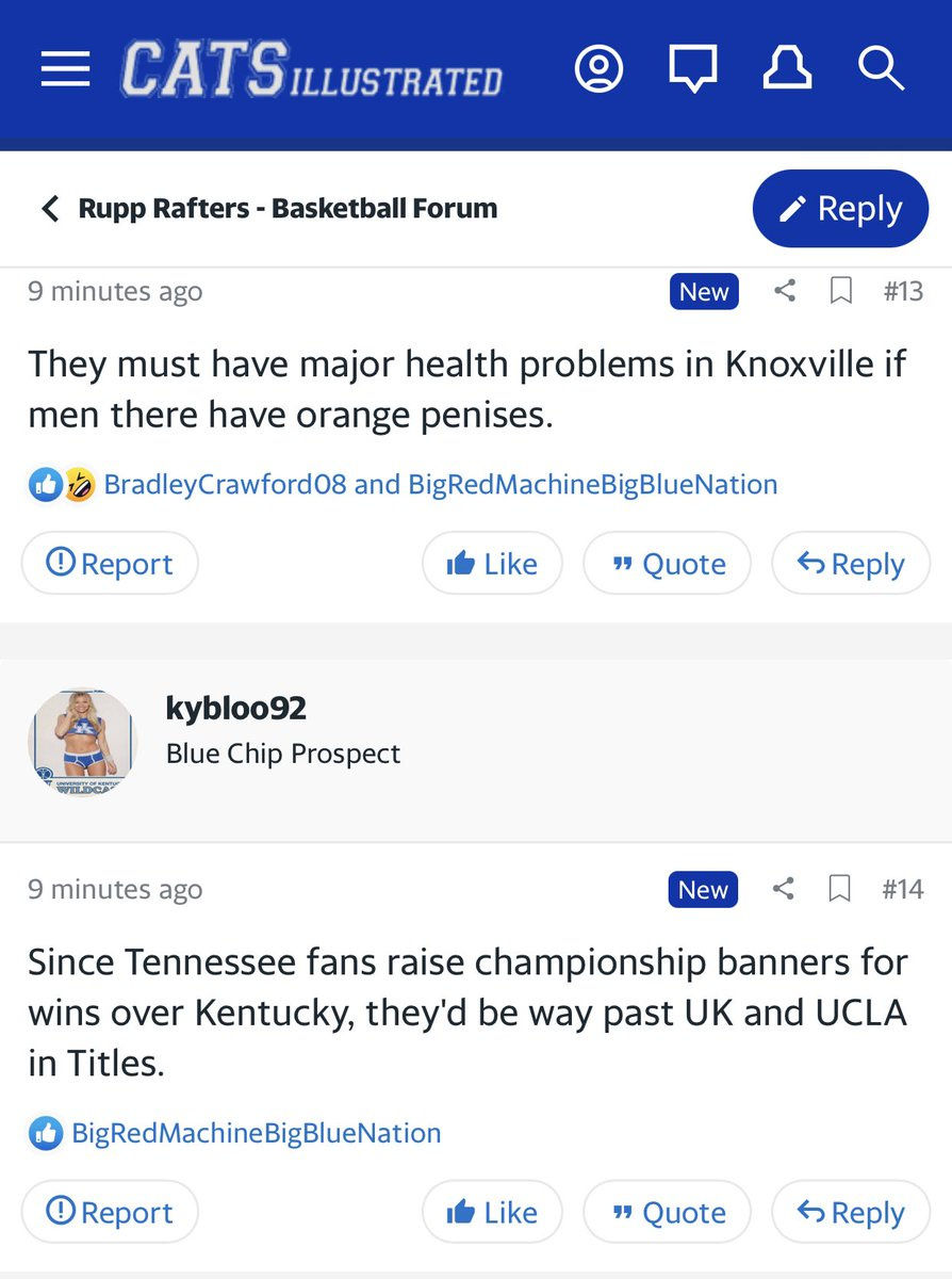 Rupp Rafters Message Board : rafters, message, board, Message, Board, Geniuses, Twitter:, #Kentucky, Mood., #Vols, #Tennessee, #TENNvsUK…