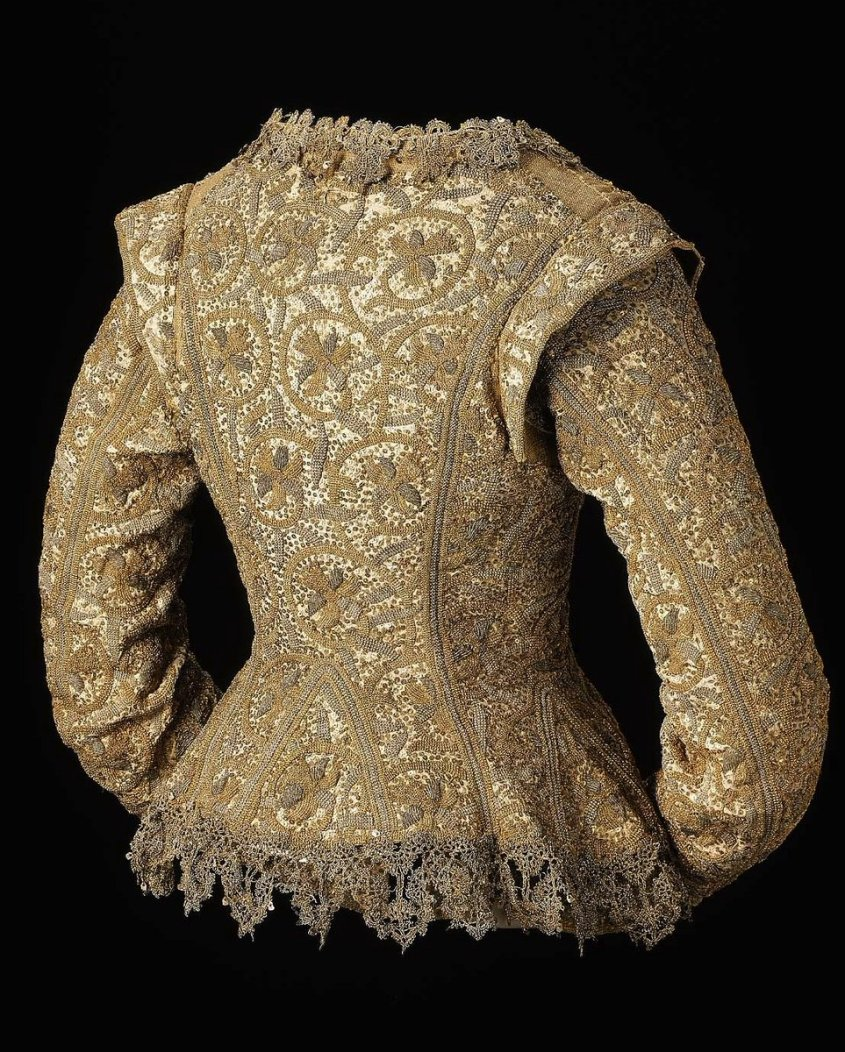 Woman's jacket English  about 1610–15, with later alterations  Object Place: England MFA Boston - public domain