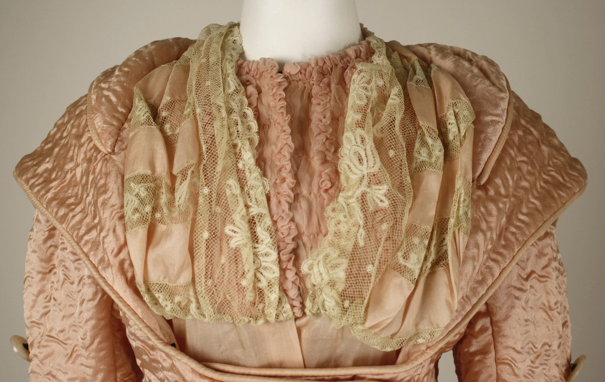 Félix French - Met Museum, Public domain. Satin and lace, 1880s.