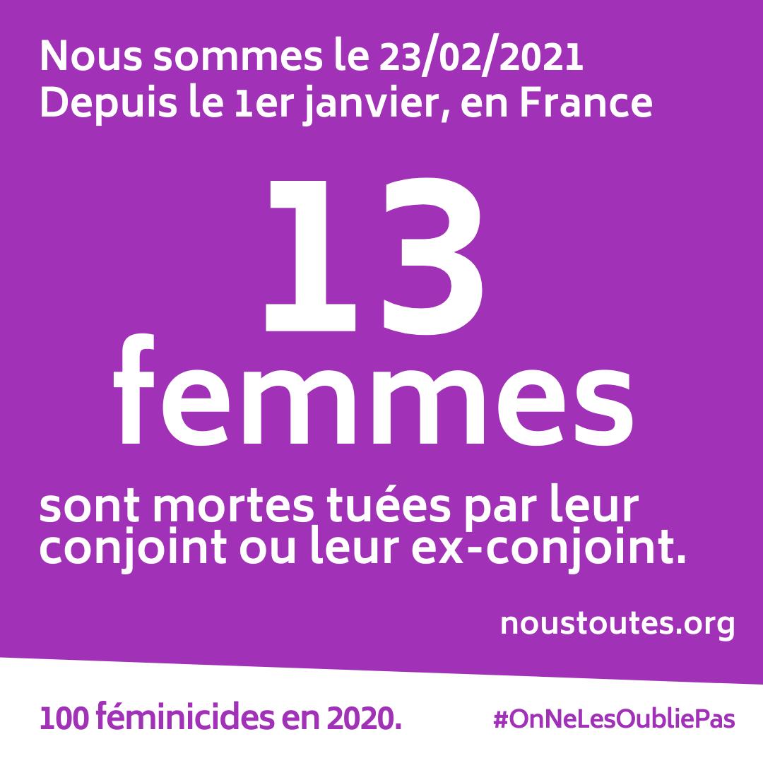 """NousToutes on Twitter: """"Mercredi dernier, à Charmes (88) une femme a été  tuée par son conjoint. Elle était régulièrement victime de violences  conjugales. C'est le 13e féminicide de l'année 2021. @EmmanuelMacron,  pourquoi"""