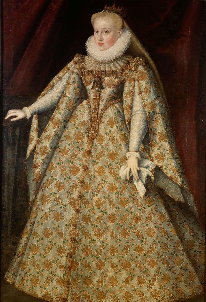 Zeitgenössiches Porträt Maria Christinas von Habsburg, Frau von Sigismund Báthory, Public Domain