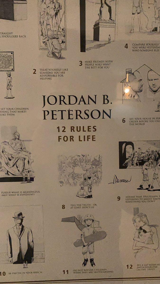 jordan b peterson 12 rules for life poster