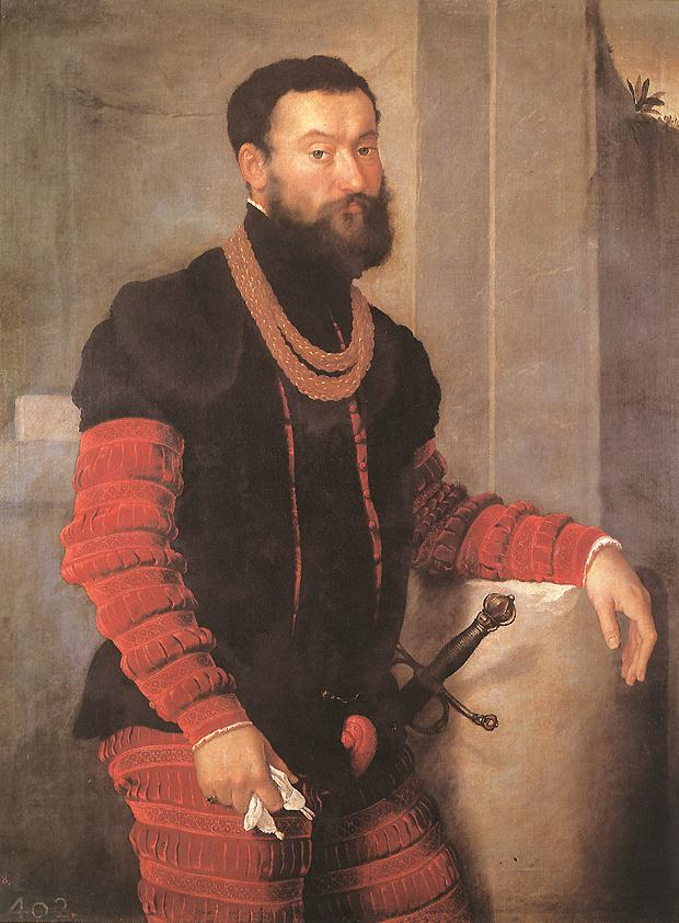 Man with a velvet suit and codpiece. Giovanni Battista Moroni 021