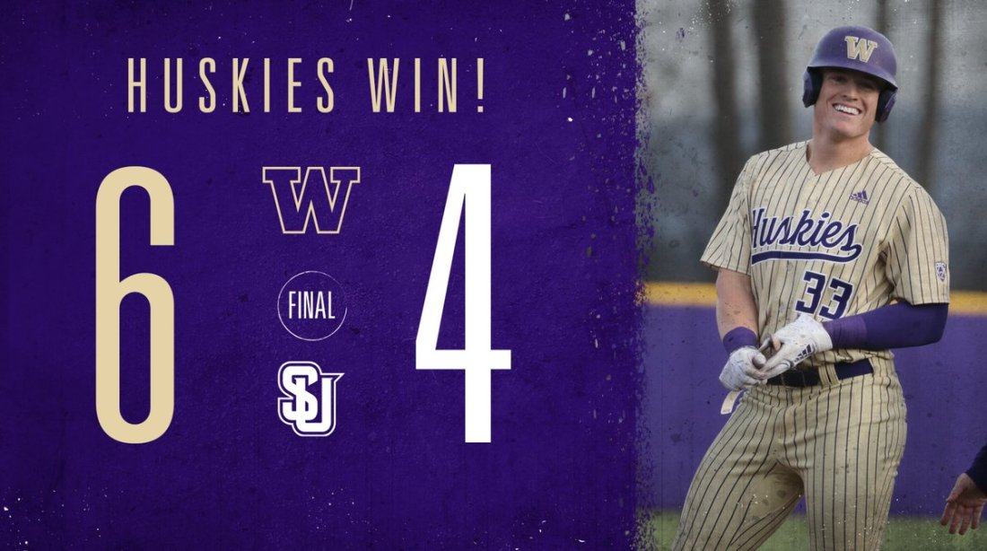 test Twitter Media - DAWGS WIN! Break out the brooms! 🧹🧹🧹  That's a three-game sweep over Seattle U and four wins in a row for the Huskies!  ⚾️ Will Simpson and Dalton Chandler go deep ⚾️ Stefan Raeth earns the win ⚾️ Dylan Lamb gets the save  #DaWgStrong /// #GoHuskies https://t.co/6asEk1YRKG
