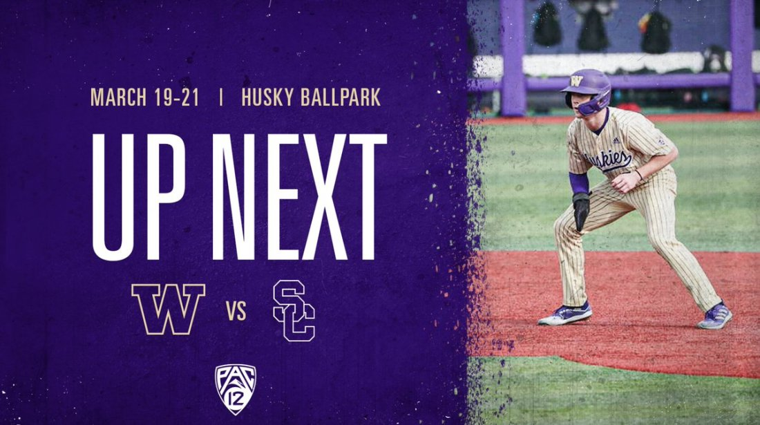 test Twitter Media - The Dawgs look to stay hot this weekend as we host USC in our Pac-12 opener!  🗓️⬇️ Fri. 3/19: 1:00 p.m. Sat. 3/20: 5:00 p.m. Sun. 3/21: 1:00 p.m.  💻: All games will be streamed on Pac-12 Plus  #DaWgStrong /// #GoHuskies https://t.co/np2CIShwmo