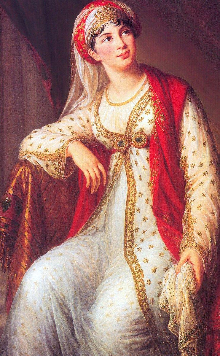 Giuseppina Grassini by Louise Élisabeth Vigée Le Brun 2. An Italian woman posed in Indian-inspired garb.
